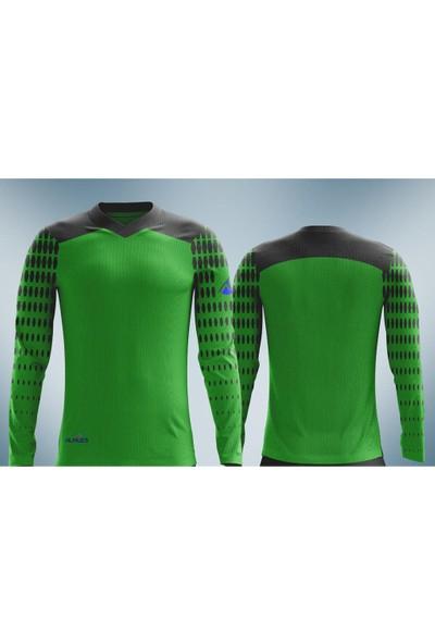 Almues 2730 Futbol Spor Sünger Destekli Kaleci Forması Takımı Yeşil