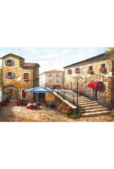 Tablosan Yağlıboya Venedik Taş Evler Kanvas Tablo