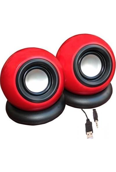 Platoon PL-4124 Pc USB Mini 1+1 Speaker