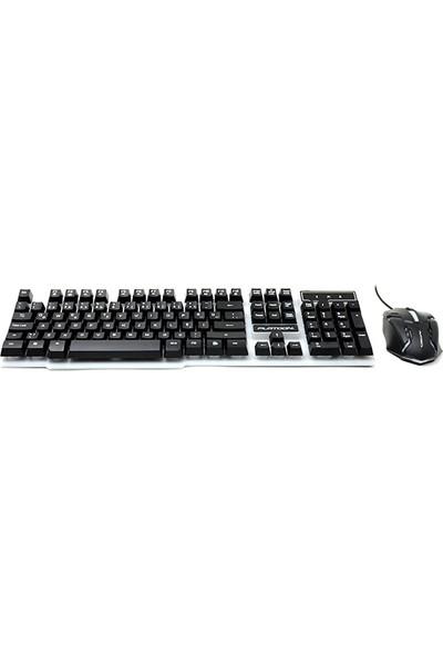 Platoon PL-357 Oyuncu Işıklı Klavye Mouse Set