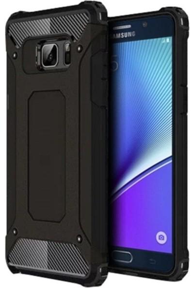 Kılıfreyonum Samsung Galaxy Note 5 Çift Katmanlı Tank Kılıf Siyah