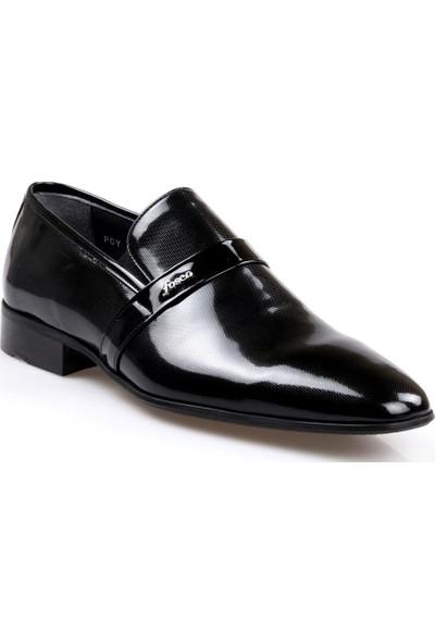 Fosco 7558 Erkek Klasik Siyah Rugan Ayakkabı