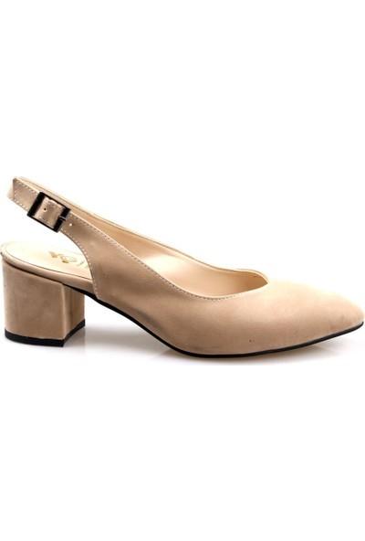 Gizsah Kadın Vizon Topuklu Ayakkabı