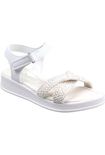 Sema Kız Çocuk (26-36) Ortapedik Beyaz Sandalet