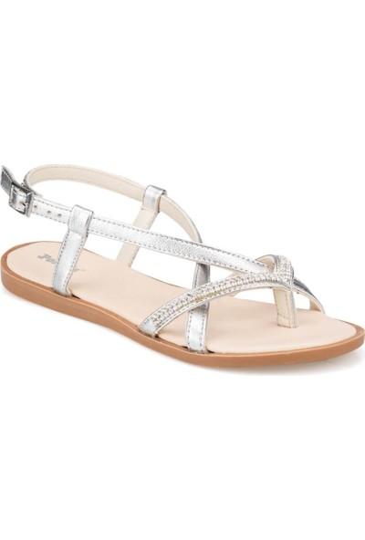 Polaris Kadın Parmak Arası Gümüş Sandalet