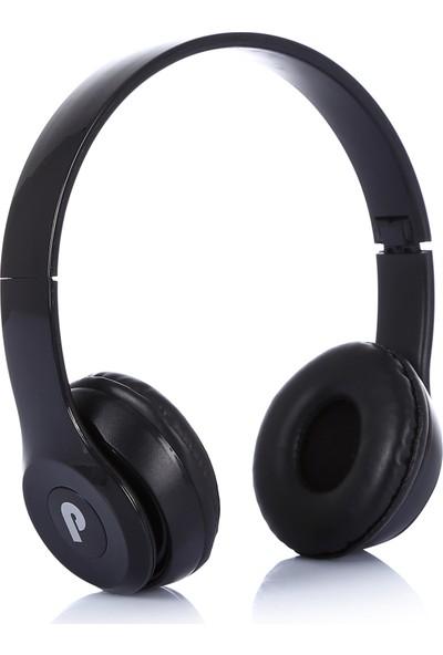 Pusula Kıvrılabilir Kulaküstü Kulaklık - Siyah