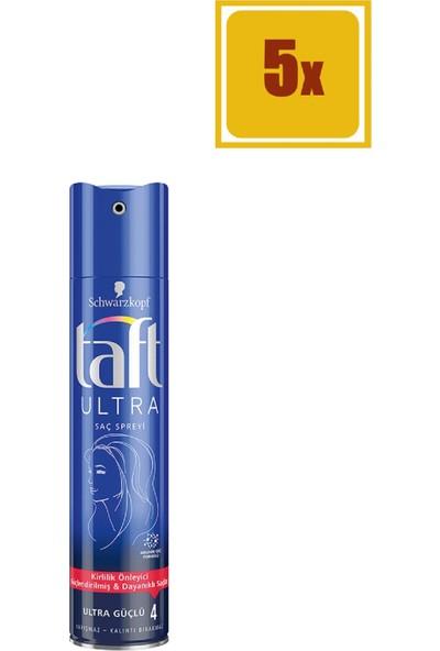 Taft Saç Spreyi Ultra Güçlü 250 ml 5'li Set