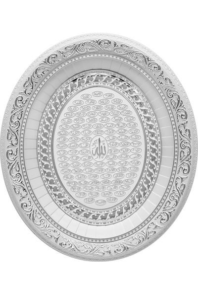 Minikhome Dekoratif Oval Esma-Ul Husna Goblen Tablo 3237