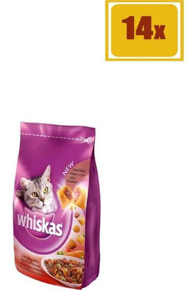 Whiskas Biftekli Kuru Kedi Maması 300 gr 14'lü Set