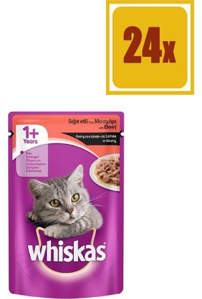 Whiskas Pouch Biftekli Kedi Maması 100 gr 24'lü Set