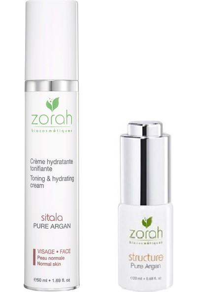 Zorah Sitala Facial Cream 50ml + Zorah Bioserum Structure 20ml