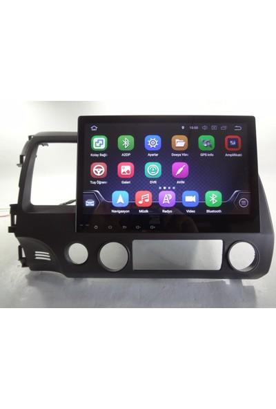 Darkway Honda Civic Fd6 8.1 Android Navigasyon Multimedya Usb Tv Bluetooth