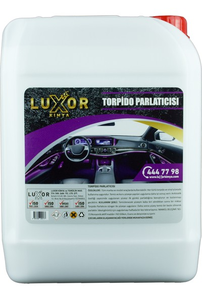 Luxor Kimya Slikonlu Torpido Parlatıcı Ve Temizleyici 20 Kg