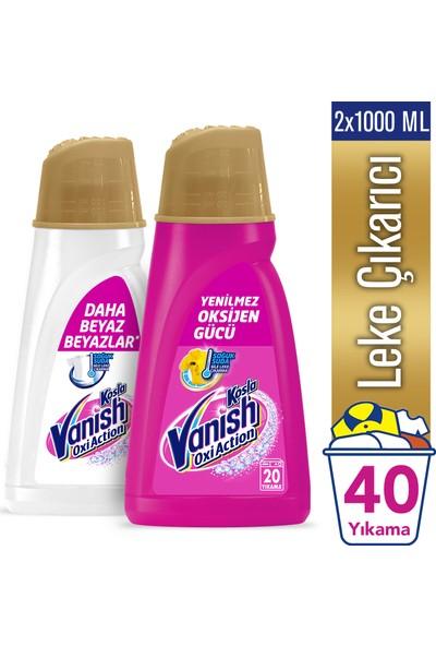 Vanish Kosla Oxi Action Gold Sıvı Leke Çıkarıcı 1000 ml+1000 ml Renkliler ve Beyazlar İçin