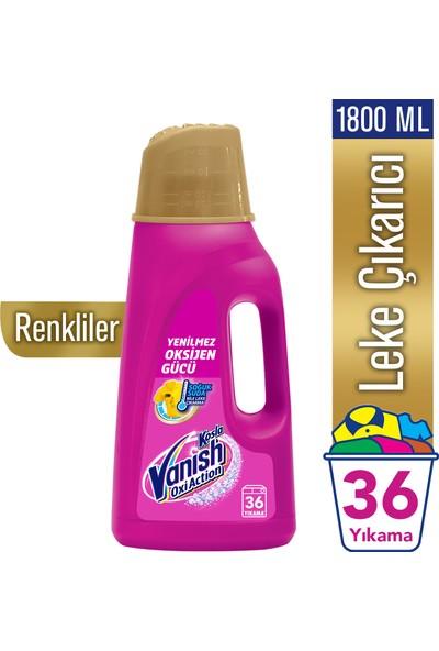 Vanish Kosla Oxi Action Gold Sıvı Leke Çıkarıcı 1800 ml Renkliler İçin