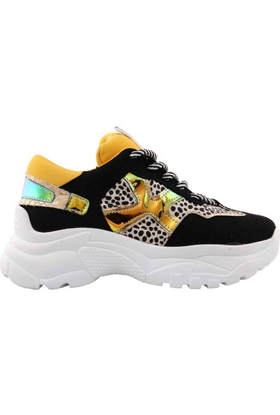 Vingi Renkli Dolgu Topuklu Kadın Sneaker