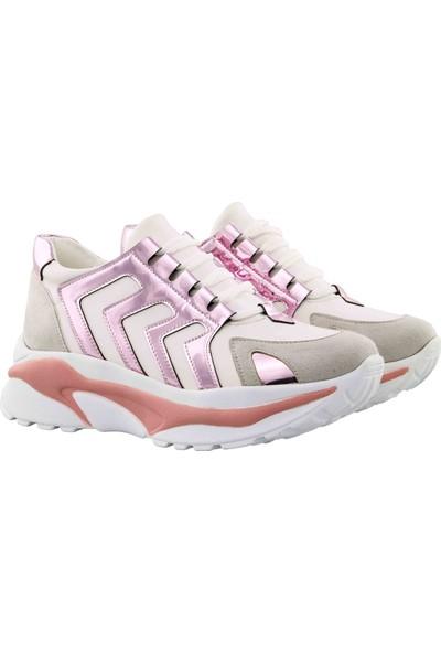 Vingi Dolgu Topuklu Kadın Ayakkabı Sneaker