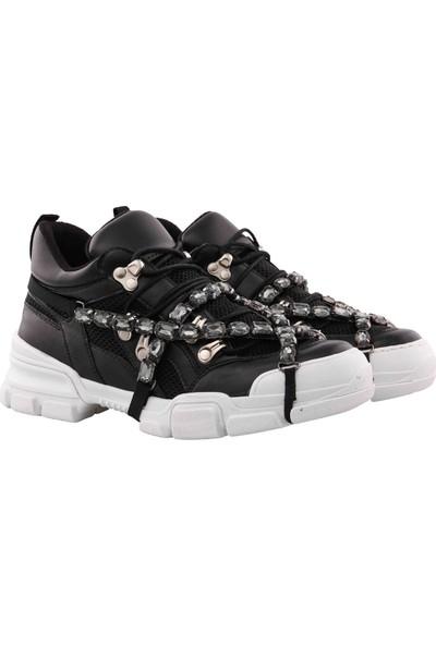 Vingi Taşlı Dolgu Topuklu Kadın Sneaker Ayakkabı