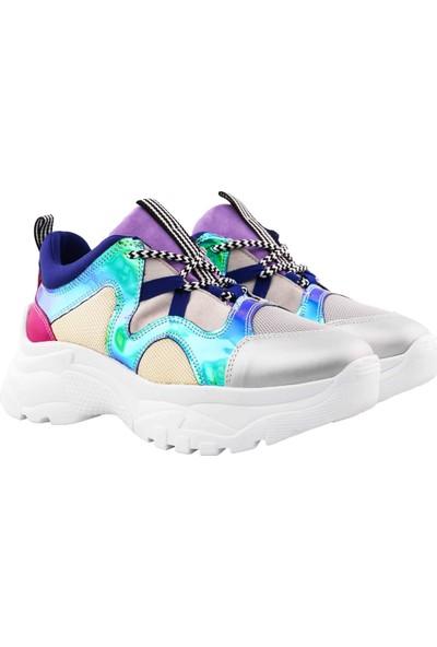 Vingi Dolgu Topuklu Sneaker Ayakkabı