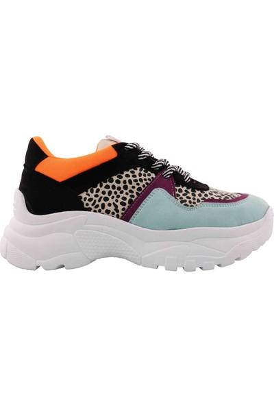 Vingi Dolgu Topuklu Kadın Sneaker Ayakkabı