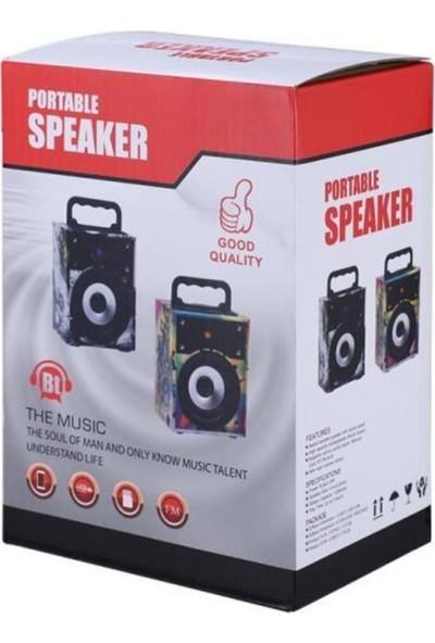 Tigdes BT/SD/FM/USB Taşınabilir Ses Bombası - Siyah Turuncu