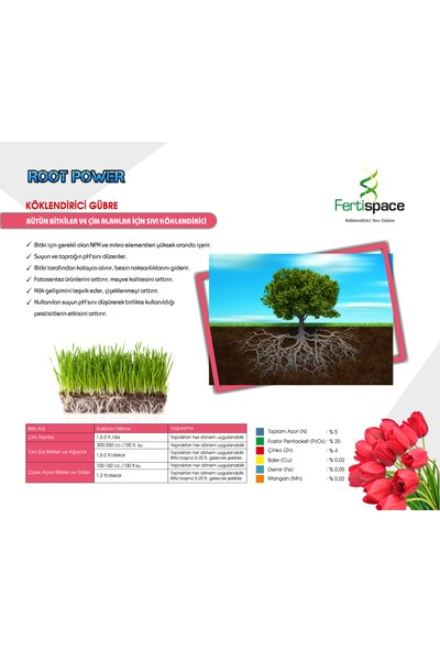 Fertispace Root Power 5 Lt (Köklendirici Sıvı Gübre)