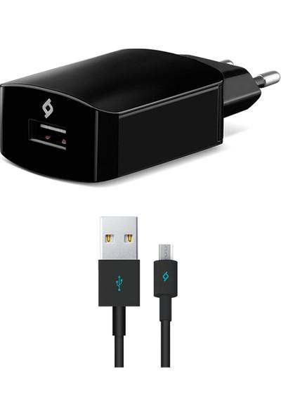 TTec Speedcharger Seyahat 2.1A Hızlı Şarj Aleti Siyah + Micro USB Kablo