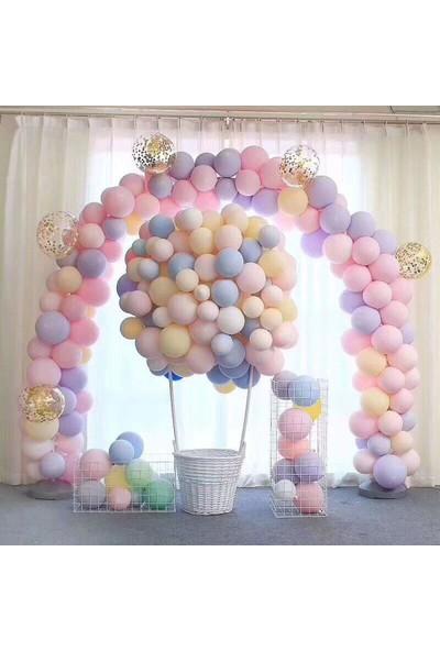 As Baloon Makaron Balon - 50 Adet Karışık Soft Renk Pastel Balon
