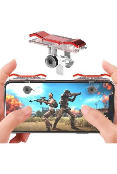 Streak PUBG E9 Telefonlar Için Oyun Adaptörü Ikili Ateş Tetik Düğmesi