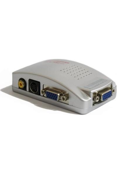 Teknogreen TVA-002 VGA To Video Çevirici Adaptör