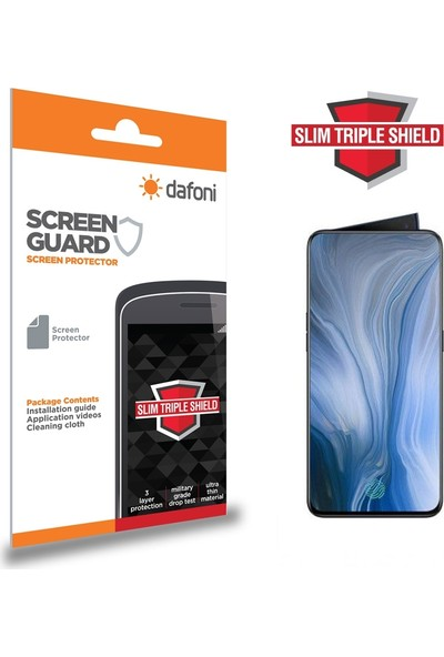 Dafoni Oppo Reno 10X Zoom Slim Triple Shield Ekran Koruyucu