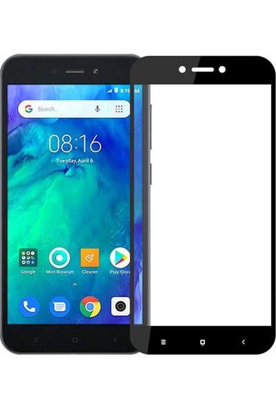 Microcase Xiaomi Redmi Go Tam Kaplayan Çerçeveli Tempered Ekran Koruyucu - Siyah