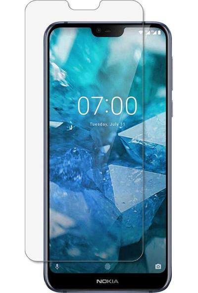Microcase Nokia 7.1 Tempered Glass Cam Koruma