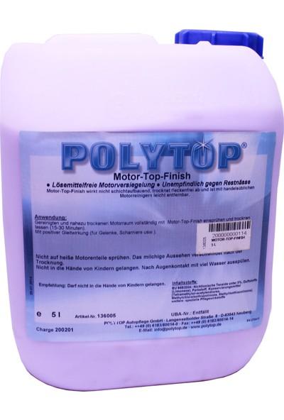 Polytop Motor-Top Finish 5 L Konsantre Motor Yıkama Şampuanı Motor Koruyucu