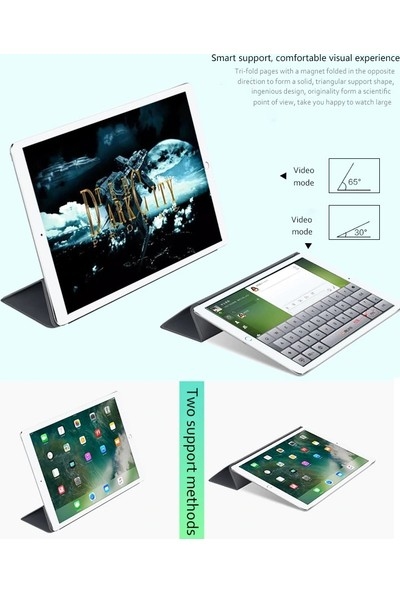 CresCent Apple iPad Air 3.Nesil (2019) Resistance Smart Case Tablet Kılıfı (A2152/A2123/A2153/A2154) 10.5 İnç Siyah