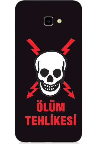 Teknomeg Samsung Galaxy J4 Plus Siyah Ruber Kapak Kılıf Ölüm Tehlikesi