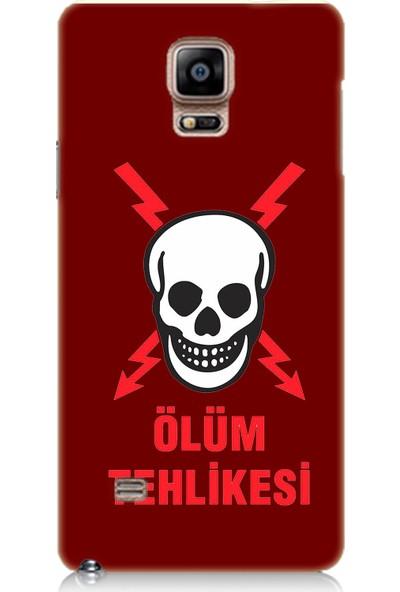 Teknomeg Samsung Galaxy Note 4 Bordo Ruber Kapak Kılıf Ölüm Tehlikesi
