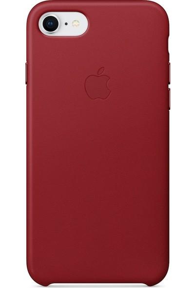 Daytona Apple iPhone 7/8 Deri Kılıf Kırmızı