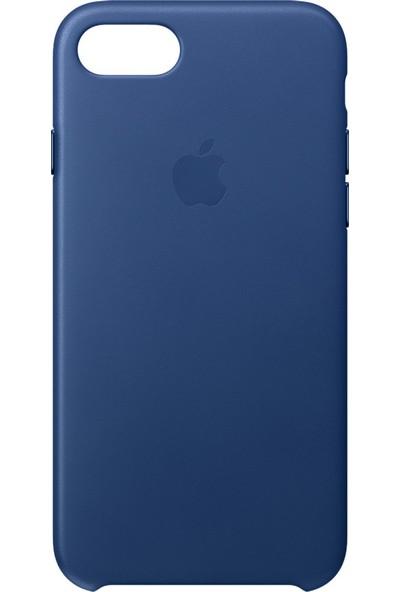 Daytona Apple iPhone 7/8 Deri Kılıf Safir Mavisi
