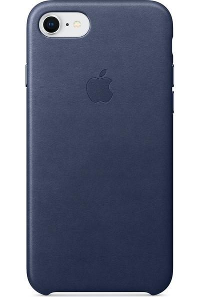 Daytona Apple iPhone 7/8 Deri Kılıf Gece Mavisi
