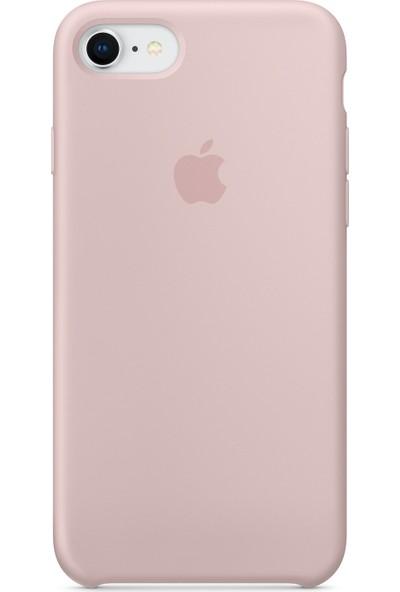 Daytona Apple iPhone 7/8 Kamelya (Camellia) Silikon Kılıf Kauçuk Arka Kapak Kum Pembesi
