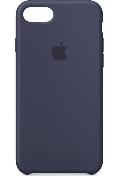 Daytona Apple iPhone 7/8 Kamelya (Camellia) Silikon Kılıf Kauçuk Arka Kapak Gece Mavisi