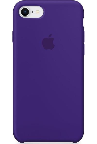 Daytona Apple iPhone 7/8 Kamelya (Camellia) Silikon Kılıf Kauçuk Arka Kapak Mor