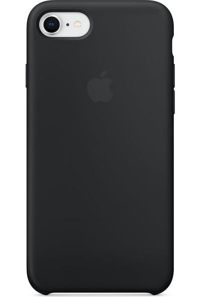 Daytona Apple iPhone 7/8 Kamelya (Camellia) Silikon Kılıf Kauçuk Arka Kapak Siyah