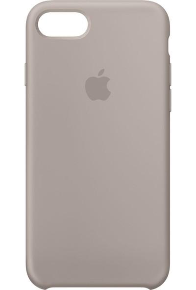 Daytona Apple iPhone 7/8 Kamelya (Camellia) Silikon Kılıf Kauçuk Arka Kapak Koyu Gri