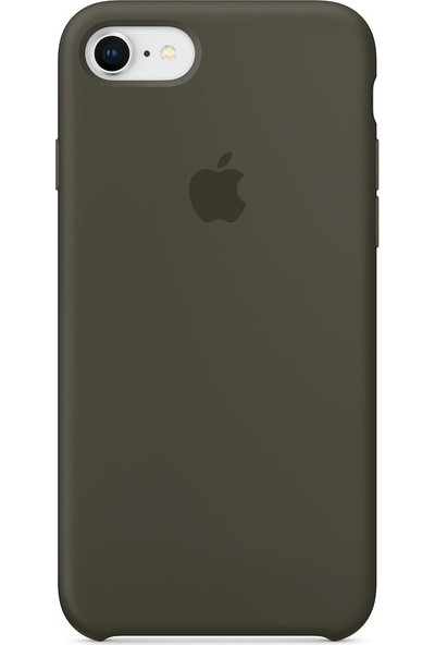Daytona Apple iPhone 7/8 Kamelya (Camellia) Silikon Kılıf Kauçuk Arka Kapak Koyu Yeşil