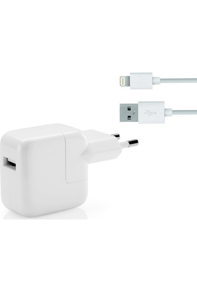 Daytona Tek Girişli Apple iPad Air / Air 2 Şarj Adaptörü + Kablo (Oem)