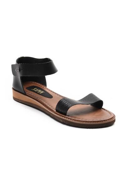 Sapin Kadın Bilekten Bantlı Hakiki Deri Sandalet 23462