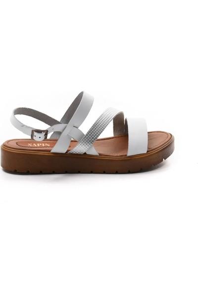 Sapin Kadın Hakiki Deri Sandalet 23471