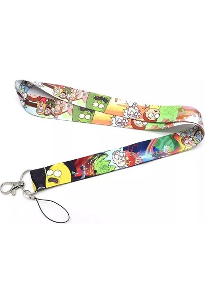 Rick And Morty Boyun & Askı Ipi Anahtarlık